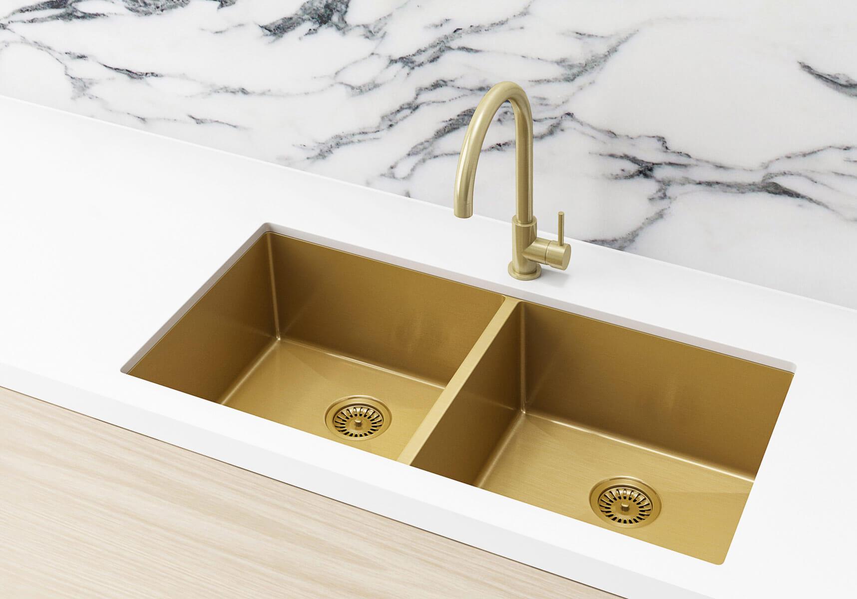 Brushed Gold Kitchen Sink